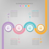 Infographic του στοιχείου κύκλων, επίπεδο σχέδιο του διανύσματος επιχειρησιακών εικονιδίων Στοκ εικόνα με δικαίωμα ελεύθερης χρήσης