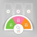 Infographic του στοιχείου κύκλων, επίπεδο σχέδιο του διανύσματος επιχειρησιακών εικονιδίων Στοκ φωτογραφία με δικαίωμα ελεύθερης χρήσης
