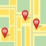 Infographic υπόδειξη ακίνητων περιουσιών Διανυσματική απεικόνιση