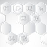 infographic архива элементов наслоенные отдельно vector Стоковое Фото