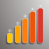 Infographic в форме индикатора получая сообщение с полями для текста и нумеровать Стоковая Фотография RF