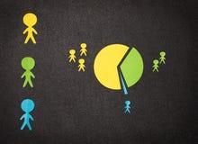 Infographic демонстрирует социальное разделение Стоковое Изображение RF