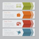 Infographic Конструируйте график шаблона знамен номера или план вебсайта Стоковое фото RF
