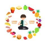 Infographic - круг искусства еды Стоковые Изображения RF