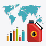 Infographic нефти и масла industric Стоковая Фотография RF