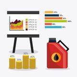 Infographic нефти и масла industric Стоковые Фотографии RF