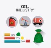 Infographic нефти и масла industric Стоковое Фото