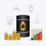 Infographic нефти и масла industric Стоковое Изображение RF