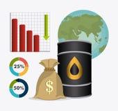 Infographic нефти и масла industric Стоковые Фото