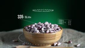 Infographic фасоли клюквы с витаминами, минералами microelements Энергия, калория и компонент иллюстрация вектора