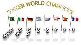 Infographic чемпионов мира футбола при флаги представляя страны и шарики число названий бесплатная иллюстрация