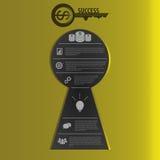 Infographic Шаблон концепции успеха в бизнесе вектор Стоковое Изображение