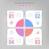 Infographic шага, плоского дизайна вектора значка дела Стоковое Фото