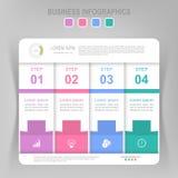 Infographic шага, плоского дизайна вектора значка дела Стоковые Изображения
