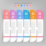 Infographic шага, плоского дизайна вектора значка дела Стоковые Изображения RF