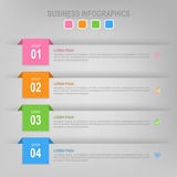 Infographic шага, плоского дизайна вектора значка дела Стоковые Фото