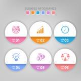 Infographic шага, плоского дизайна вектора значка дела Стоковая Фотография RF