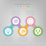 Infographic шага, плоского дизайна вектора значка дела Стоковое Изображение