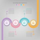Infographic элемента круга, плоского дизайна вектора значка дела Стоковое Изображение RF