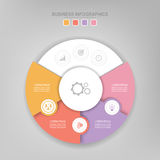 Infographic элемента круга, плоского дизайна вектора значка дела Стоковые Изображения RF