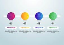 ??infographic?? 与第的设计4选择或步 向量例证