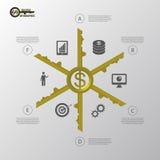 Infographic 企业成功概念模板 向量 库存照片