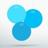Infographic 3蓝色3d垂悬的文本盘旋传染媒介 图库摄影