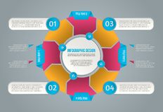Info graphic for concept design. Vector infographics. Vector diagram. royalty free stock photo