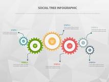 Шаблон современного дела infographic, предпосылка с диаграммой, 4 шагами, бесплатная иллюстрация