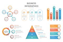 Πρότυπα Infographic ελεύθερη απεικόνιση δικαιώματος