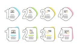 Онлайн статистика, быстрые подсказки и телефон музыки набор значков Знак книги любов r иллюстрация штока