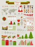 圣诞节Infographic集 免版税库存照片
