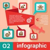 Ταξίδι έννοιας Infographic Στοκ φωτογραφία με δικαίωμα ελεύθερης χρήσης