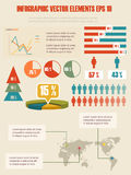 细节infographic例证。 免版税图库摄影