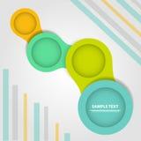 完全infographic逐步的传染媒介模板 免版税库存图片