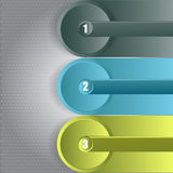 Αφηρημένο διανυσματικό infographic υπόβαθρο με τρία βήματα Στοκ Εικόνες