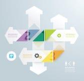 箭头现代设计最小的样式infographic模板 库存图片
