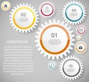 Διανυσματική απεικόνιση επιχειρησιακών προτύπων Infographic Στοκ φωτογραφία με δικαίωμα ελεύθερης χρήσης