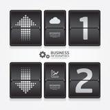 商务旅游infographic机场时间表设计样式。 免版税图库摄影