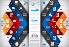 Infographic与纸标记的设计模板 库存照片