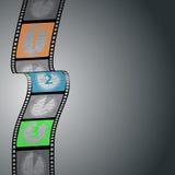 Infographic σχέδιο αντίστροφης μέτρησης με τη λουρίδα ταινιών Στοκ φωτογραφία με δικαίωμα ελεύθερης χρήσης