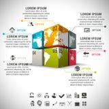 Infographic Стоковое Изображение RF