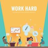 工作场所 业务会议和激发灵感 Infographic 免版税图库摄影