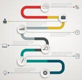 与象的路infographic时间安排 免版税库存图片