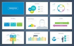 Στοιχεία παρουσίασης Infographic και διανυσματικά φυλλάδια προτύπων Στοκ Φωτογραφίες