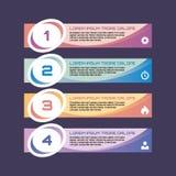 Αριθμημένα εμβλήματα επιλογής - διανυσματική επιχειρησιακή έννοια για infographic, την παρουσίαση, το βιβλιάριο, τον ιστοχώρο και Στοκ εικόνα με δικαίωμα ελεύθερης χρήσης