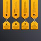 Современное infographic знамя вариантов элементы конструкции предпосылки 4 снежинки белой Стоковые Фото