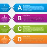 Абстрактное infographic знамя вариантов элементы конструкции предпосылки 4 снежинки белой Стоковая Фотография