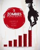 Infographic с тухлой рукой зомби, иллюстрацией вектора Стоковые Изображения RF