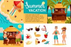 旅行象,与假日的元素的Infographic 免版税图库摄影